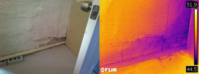 Photo illustrating thermal imaging used in some home inspections
